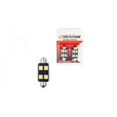 4CARS LED ŽIAROVKA 4LED 12V FESTOON CANBUS 5050SMD T11X42MM