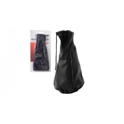 4CARS Poťah na tyč rýchlostnej páky genuine leather čierny